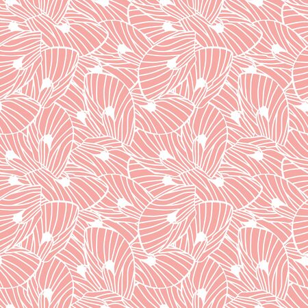 Vector pink abstract moth wings seamless pattern. Suitable for gift wrap, textile or wallpaper.