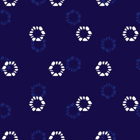 Vector blue monchrome simple hexagon polka dot seamless pattern. Suitable for textile, gift wrap and wallpaper. Surface pattern design. Vecteurs