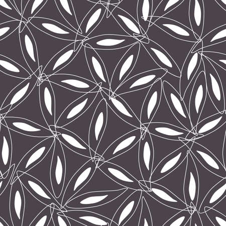 Vector grey monochrome abstract elegant star anise petal connecting triangles seamless repeat pattern. Perfect for fabric, scrapbooking and wallpaper projects.
