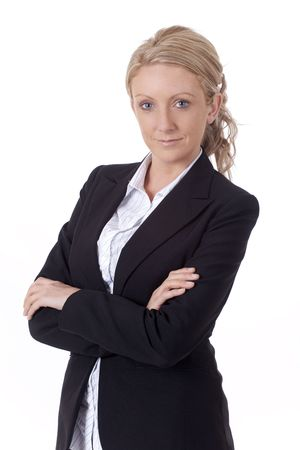 Young confident business woman photo