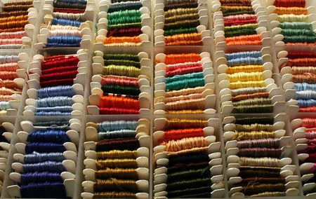 Embroidery Floss in a sorting box.