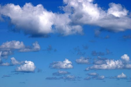 billowing: A beautiful picturesque sky. Stock Photo