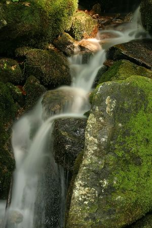 A flowing waterfall photo