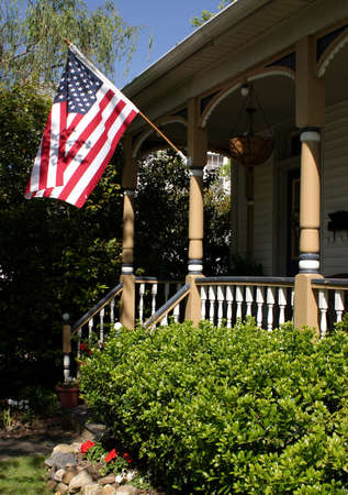 A patriotic looking home. photo