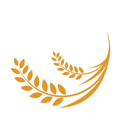Oren van tarwe, vectorillustratie, pictogram, rijst