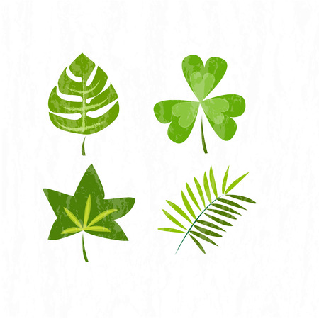 Vector Illustration green leaf pattern for environment day Ilustração