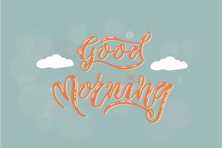 Good Morning card vector Illustration. Template for budge, banner, icon, logotype, invitation, poster etc. 矢量图像