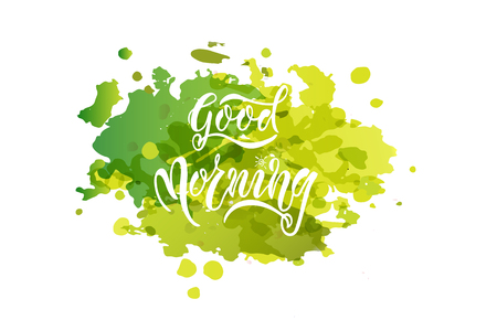Good Morning card vector Illustration. Template for budge, banner, icon, logotype, invitation, poster etc.