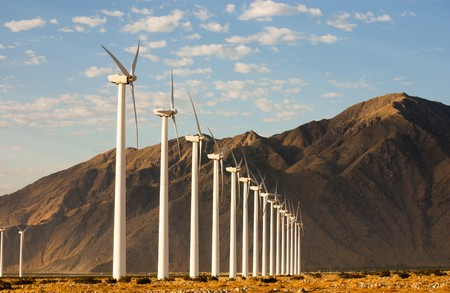 electric utility: Wind Generators in the California Desert