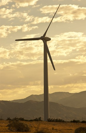 Wind Generators in the California Desert photo