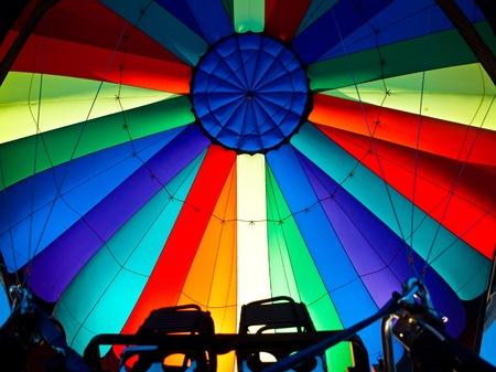 The sunlight illuminating the inside of a multicolor balloon photo