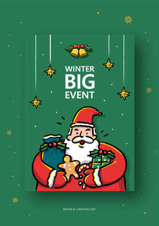 Winter and Christmas event illustration