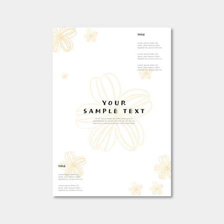 Beautiful spring flower brochure template.