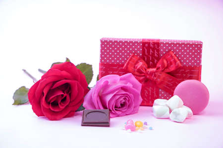 gift box on colourful background