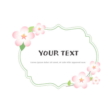 set of spring flower frames, vector.