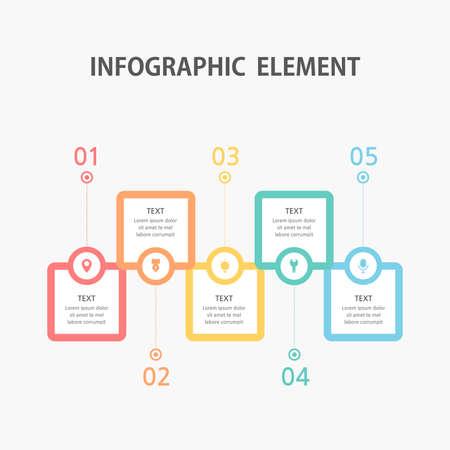 Presentation business infographic template. Vector illustration. Ilustración de vector
