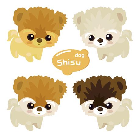 Dog cute cartoon design.