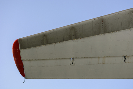 a piece of tail behind the aircraft Stock Photo