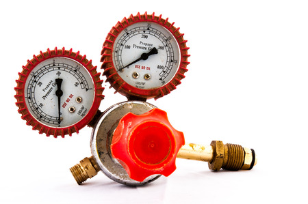regulator: Regulator industry tool on isolate white back ground Stock Photo
