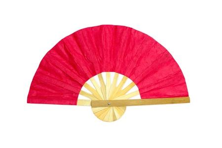 Wooden red fan photo