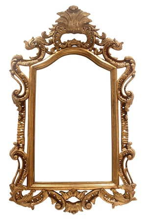 vintage frame on white background photo