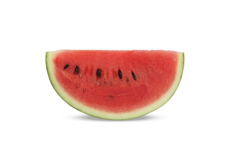 Sliced watermelon on white background photo