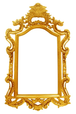 vintage frame on white background photo