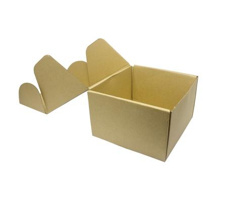carton box isolated on white background photo