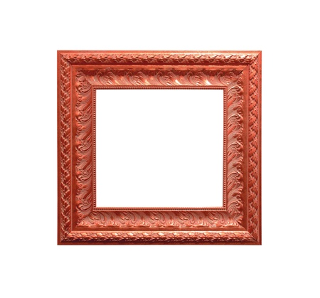 antique frame isolated on white background photo