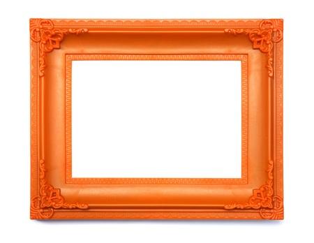 Vintage frame isolated on white background photo