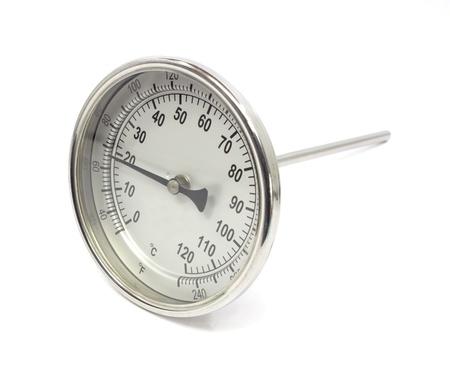 analog thermometer on a white background  Zdjęcie Seryjne