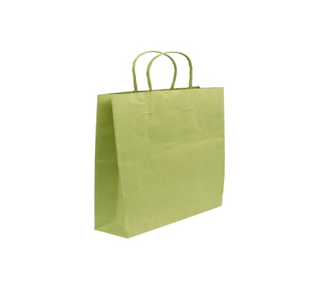 Paper bag isolated on white background photo