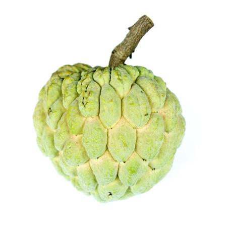 chirimoya: Cherimoya fruit on white Stock Photo