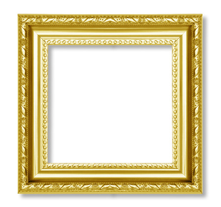 gold frame on the white background Stock Photo - 22691863