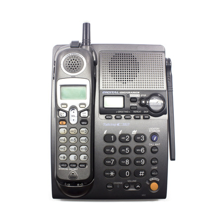 cordless phone set closeup with white background Stock Photo - 23050503