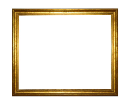 Gold vintage frame isolated on white background Reklamní fotografie - 23212287