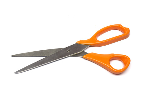 scissors on white background photo