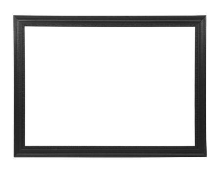 picture frame on wall: Isolated black picture frame Stock Photo