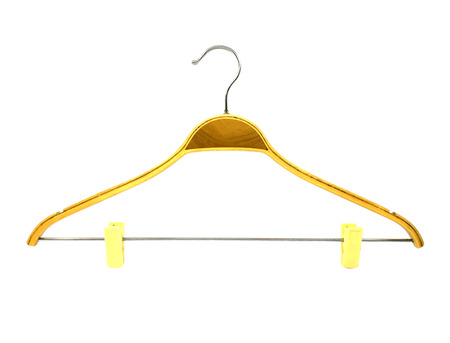 Coat hanger isolated on white Stock Photo - 24091576