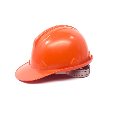 Construction hard hat as a work safety . photo