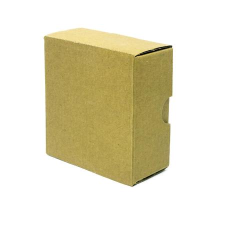 carton box isolated over white background Stock Photo - 24814421
