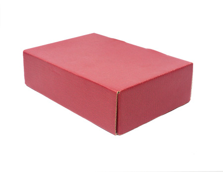 red box  on white background photo
