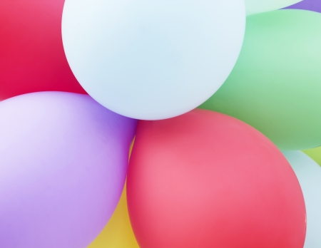 Colorful balloons abstract holiday party background photo
