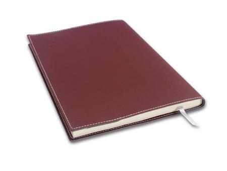 note book on white background photo