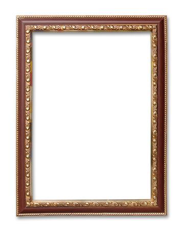 cadre antique: cadre antique sur le blanc Banque d'images