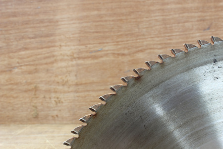 circular saw: circular saw in carpenters shop