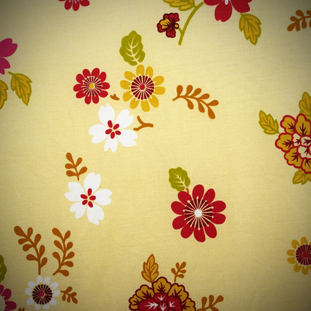 stylishness: Fabric background, Fragment of colorful textile pattern with floral ornament useful as background.