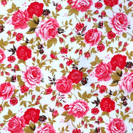 sateen: flowers fabric pattern background Stock Photo