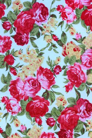 stylishness: flowers fabric pattern background Stock Photo