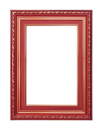 cadre antique: Le cadre antique sur fond noir Banque d'images